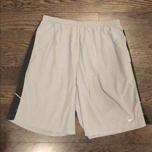 Gray Nike Dri Fit Athletic Shorts